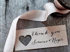 Thank You tag tag personalizzato di grazie di nozze Tags di