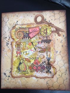 Card using tim holtz stamps