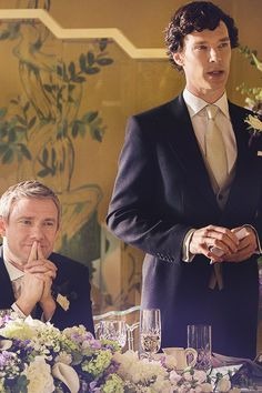 """SHERLOCK - Sherlock Holmes (Benedict Cumberbatch) & John Watson (Martin Freeman) - """"Johnlock"""" - """"So, if I didn't understand I was being asked to be the best man, it is because I never expected to be anybody's best friend. Sherlock Bbc, Benedict Sherlock, Sherlock Fandom, Jim Moriarty, Sherlock Cumberbatch, Watson Sherlock, John Watson, Johnlock, Martin Freeman"""