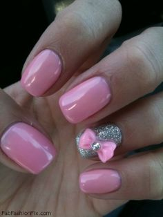Bow manicure and nail art inspirations