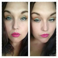 Who's Skittish? A gorgeous makeup combination with green, orange and bright pink. Younique cosmetics are cruelty free and naturally based, so you'll feel good about treating yourself! Christmas gift for women!