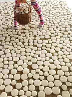 "GAN-RUGS...Champiñones, ""Mushrooms"" rug. I would never put shoes on again."