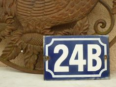 vintage french house number 24B by LeMoulinBleu on Etsy, $23.00