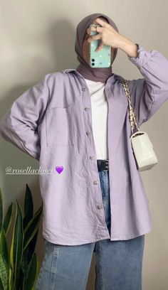 Modern Hijab Fashion, Street Hijab Fashion, Modesty Fashion, Hijab Fashion Inspiration, Muslim Fashion, Look Fashion, Fashion Outfits, Stylish Hijab, Casual Hijab Outfit
