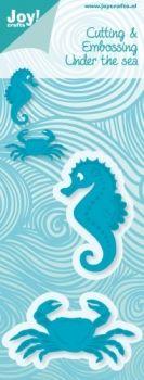Noor!Design Deutschland Webshop - Schneide & Prägeschablone - Under the Sea - Krabbe und Seepferdchen