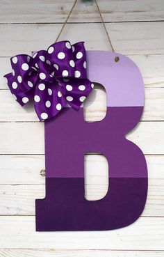 Your place to buy and sell all things handmade Hanging Letters, Diy Letters, Letter A Crafts, Wood Letters, Painting Wooden Letters, Painted Letters, Painted Initials, Letter Door Hangers, Letter Wall