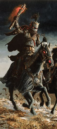 """Although evil and filled with an intense hatred for all living creatures, Soth retains a semblance of the pride he held as a Solamnic knight. He will never ambush an opponent from behind, nor does he strike before his enemy can ready his weapon. An undead abomination, Soth has inhuman strength, which is further enhanced by his skill with the sword. Soth can snuff the life out of a red dragon, or shatter the great city gate of Palanthas, which was formerly known as the """"Unconquered City."""""""