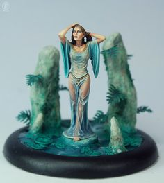 Woman Emerging From Water - Special Edition Miniatures - Miniature Lines 28mm Miniatures, Fantasy Miniatures, Warhammer Paint, Warhammer Fantasy, Miniature Figurines, Fantasy Women, Fantasy Art, Mini Paintings, Figure Model