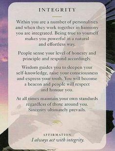 Integrity....