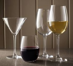 Pottery Barn Wine Country Stemless Wine Glass, Set of 6