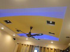 Ceiling design with hidden blue light