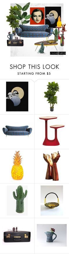 """""""Paris"""" by vegetarian-wolf ❤ liked on Polyvore featuring interior, interiors, interior design, home, home decor, interior decorating, Nearly Natural, Moustache, Serax and Improvements"""