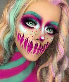 Halloween Make up Idea Scary Makeup, Clown Makeup, Costume Makeup, Ghost Makeup, Horror Makeup, Zombie Makeup, Amazing Halloween Makeup, Halloween Makeup Looks, Disney Halloween Makeup
