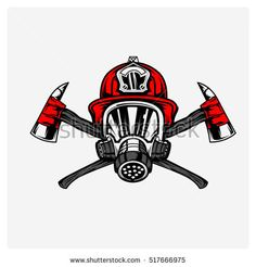 firefighters logo vector