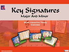 Students will find this interactive approach to theory absorbing. Key Signatures practises and tests all the key signatures both major and minor. Interactive Activities, Music Theory, Music Lessons, Teaching Resources, Student, Key, Teaching Music, Unique Key, Music Education