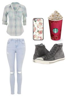 """""""Untitled #82"""" by edita-armen ❤ liked on Polyvore featuring maurices, Topshop and Converse"""