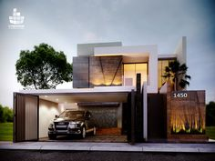 Inspiring Modern Dream House You Will Love. Designing an elegant modern home requires a great energy. Careful planning and seriousness in workmanship are the key to making a home. Architecture Design, Facade Design, Residential Architecture, Contemporary Architecture, Exterior Design, Minimalist Architecture, Villa Design, Modern House Design, Casas Containers