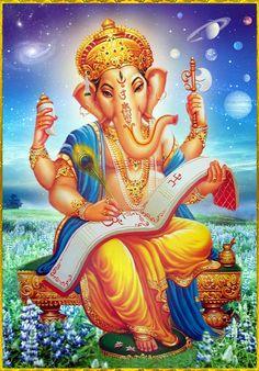 Jai Ganesha, Slokas, mantras, for more details downlaod Pureprayer App Arte Ganesha, Arte Shiva, Jai Ganesh, Ganesh Lord, Shree Ganesh, Shiva Art, Shiva Shakti, Hindu Art, Lord Shiva