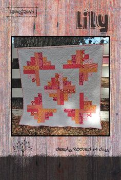 Lily Quilt Pattern by Jessica Darling for Villa Rosa Designs Patchwork Quilt Patterns, Fabric Patterns, Batik Quilts, Bobble Stitch Crochet, Villa Rosa, Quilt Sizes, Card Patterns, Easy Quilts, Quilt Making