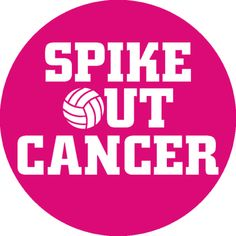 Spike Out Cancer Volleyball Sticker
