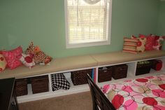 Built-In Bunk Beds with Shelves Bunk Beds Built In, Bed Shelves, Window Bed, Entryway Bench, Teen, Windows, Storage, Furniture, Home Decor