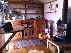 Inside our shepherds hut Shepherds Hut, Corner Desk, Inspiration, Furniture, Home Decor, Homemade Home Decor, Biblical Inspiration, Corner Table, Home Furnishings