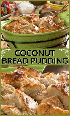 This Coconut Bread Pudding is perfect for Easter brunch. It's sweet, simple, and full of yummy coconut flavor.