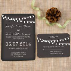 Backyard Chalkboard Wedding Invites