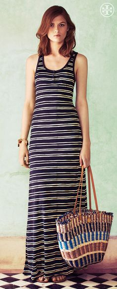 Long Lines: Silk Knit Stripes | Tory Burch Summer 2013