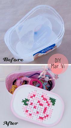 DIY: Cajita bordada (reciclando envases)