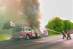 putting out a fire on the firetruck, priceless