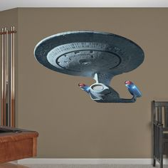 How would you like one of these on your wall at home? U.S.S. Enterprise NCC-1701-D  - Star Trek. Can I has one?