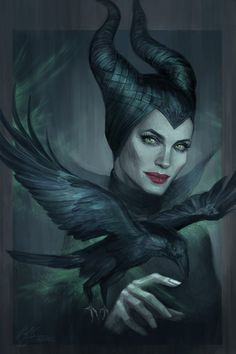 on my deviantART here too[x] Angelina Jolie + Maleficent = perfection <3