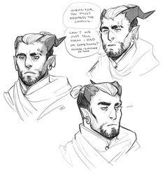 Image result for dragon age male qunari