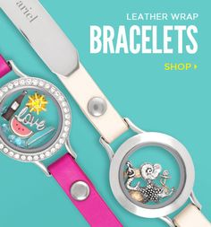Leather Wrap Bracelets - Origami Owl Custom Jewelry CharmingCarlas.origamiowl.com