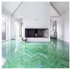Obsessed with this tiled floor.