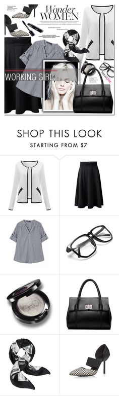 """""""WORKING GIRL NEWCHIC"""" by nanawidia ❤ liked on Polyvore featuring Moschino, men's fashion and menswear"""