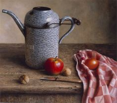 Still life with oil-can.     Herman Tulp