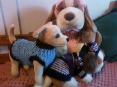 3 Dogs in Toy Togs Sweaters