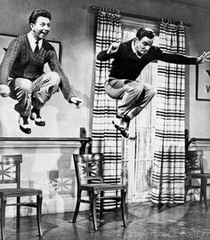 Cosmo & Don!!!!! Love this scene in Singing in the Rain (Donald O'Connor & Gene Kelly)
