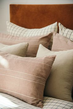 Cushion Headboard, Shops, White Sofas, Throw Pillows Bed, Hand Spinning, Bedroom Decor, Cushions, Mauve, Spinning