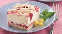 Be prepared for recipe requests when you bring this luscious dessert to your next potluck! Lemon, white chocolate, cream cheese, raspberries, and sugar cookie crust...What's not to love?