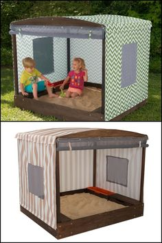 Let the kids enjoy wonderful adventures right in your own backyard with a Cabana Sandbox!
