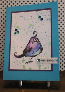 love coloring Tim Holtz Crazy Birds - blue bird