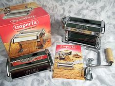 Sold IMPERIA TIPO LUSSO SP150 PASTA MAKER MADE IN ITALY IN BOX W/INSTRUCTION BOOK