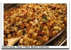 Made my usual stuffing recipe but cooked it in the crockpot. Only need 2 hrs on low.  Super moist and delicious  Crockpot stuffing recipe.