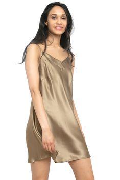 MYK Silk - Soft Silk Chemise for Women - Summer Essential Sleepwear Silk Sleepwear, Sleepwear Women, Lingerie Sleepwear, Nightwear, Satin Lingerie, Women Lingerie, Satin Nightie, Babydoll Lingerie, Silk Chemise