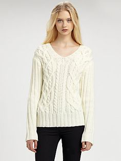 Cut 25 by Yigal Azrouel Cable-Knit Sweater