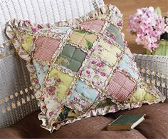 Country Patchwork Decorative Pillow