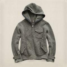 b93bf1e83652bd Ralph Lauren RRL Wool Half-Zip Hoodie Zip Hoodie, Pullover, Sweatshirt,  Modern